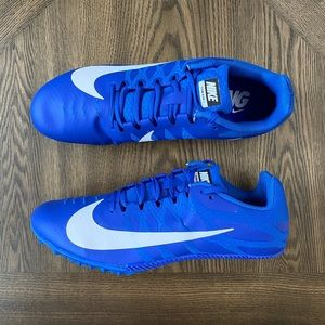 Blue nike low racing cleats zoom rival 5